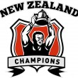 Rugby player New Zealand championship cup — Stock Photo