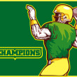 American football player quarterback champion - Stock Photo