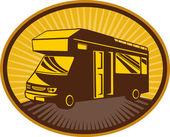 Camper van,caravan or mobile home — Stock Photo