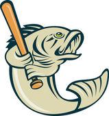 Largemouth bass fish batting — Stock Photo