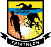 Triathlon swim bike run race — Stock Photo