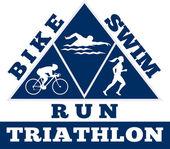 Triathlon natation course de vélo de course — Photo