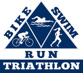 Triatlon plavání cyklistický závod na zpracování — Stock fotografie