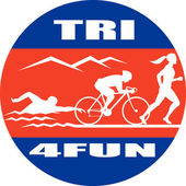 Bicicleta de triatlón maratón correr nadar — Foto de Stock