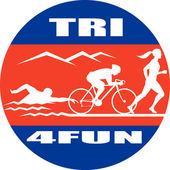 Triatlon maratonský běh plavání kolo — Stock fotografie
