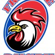 Постер, плакат: France Rugby Rooster cockerel