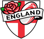 Rugby England English Rose Ball Shield — Stock Photo