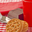 Stock Photo: Biscuits and Chocolate