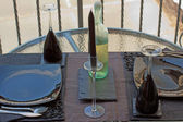 ワイングラスのザクロ — ストック写真