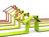 Símbolos de casa coloridos — Foto Stock