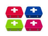 Tıbbi ilk yardım kutusu — Stok fotoğraf