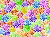 яркие полосатые конфеты бесшовный фон — Cтоковый вектор