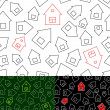 Royalty-Free Stock Vector Image: Seamless pattern with houses