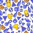 Royalty-Free Stock Vector Image: Kid pattern