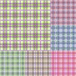 Royalty-Free Stock Vector Image: Plaid colorful seamless pattern set