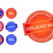 Money Back Guarantee Seal Set — Stock Vector