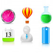Royalty-Free Stock Immagine Vettoriale: Icon set of different objects