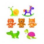 Toyes icon set — Stock Vector