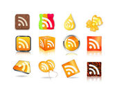 Different style of rss icon set — Stock Vector