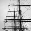 Stock Photo: Masts of old boat
