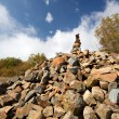 Royalty-Free Stock Photo: Heap (pyramid) of stones. Crimea mountains.Au-Dag.