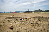 Garbage near Karabash Copper Smelting mill. Ural. — Stock Photo