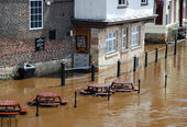 York floods — Foto Stock