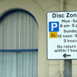 Stock Photo: Disc zone parking