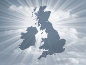 UK map — Stock Photo