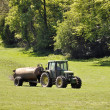 Muck spreading — Stock Photo