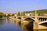 Jirasek Bridge in Prague — Stock Photo