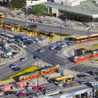Rush Hour Traffic on Roundabout - Stock Photo