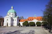 Chiesa di s. kazimierz a varsavia — Foto Stock