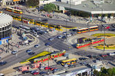 Rush Hour Traffic on Roundabout — Stock Photo