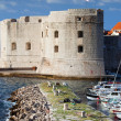 Dubrovnik Marina and Fortifications — Stock Photo