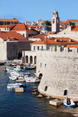 Dubrovnik Cityscape and Harbor — Stock Photo