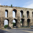 Valens Aqueduct in Istanbul - Stock Photo