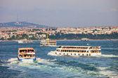 Passenger Boats on Bosphorus Strait — Stock Photo