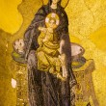 Virgin Mary and Jesus Mosaic — Stock Photo #6202214