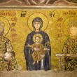 Byzantine Mosaic in Hagia Sophia — Stock Photo