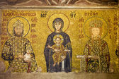 Byzantine Mosaic in Hagia Sophia — Stock Photo