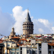 Galata Tower in Istanbul - Stock Photo