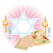 Sacral meal on Pesakh ( Passover) - Vektorgrafik
