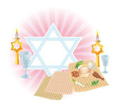 Sacral meal on Pesakh ( Passover) — Vector de stock