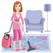 Cleaning up of room — Stock Vector #5650579
