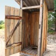 Tradtional wooden outside toilet — Stock Photo #6382449