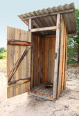 Tradtional wooden outside toilet — Stock Photo
