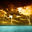 storm over the lake balaton — Stock Photo