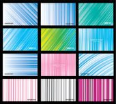 Set for Abstract Background Vector — Stock Vector