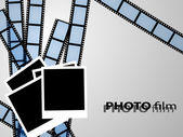Filmstrip and photo frame — Stockvector